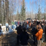 UAF Sustainable Village breaks ground on April 6, 2012 next to the Cold Climate Housing Research Center
