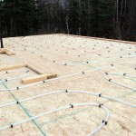 radiant tubing within the concrete slab