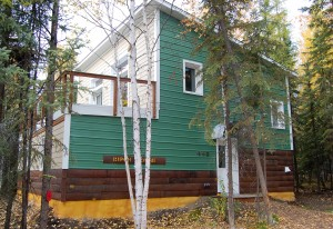The Birch House at the UAF Sustainable Village used the equivalent of 367 gallons of heating oil in the first year of occupancy, less than half as much as an average home its size in Fairbanks.